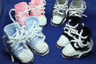 Assorted Converse Style Baby Booties